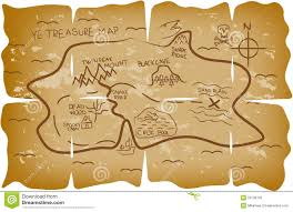 illustrated pirate treasure map stock vector image 53199722