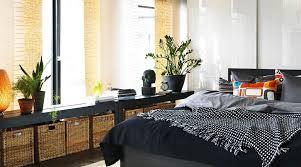 Under Window Storage by Trendy Bedroom Design With Storage Baskets Under Huge Window And