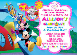 mickey mouse clubhouse birthday invites mickey mouse clubhouse invitation birthday party mickey and