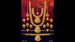 gold bridal set south indian bridal one gram gold jewellery set designs
