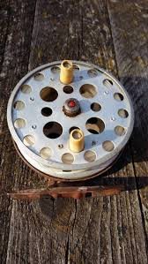 fly fishing home decor vintage fly fishing reel spinning fishing reel old metal spinner