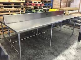 Stainless Kitchen Table by Stainless Steel Table Sink Ebay