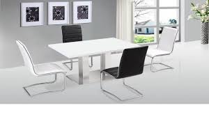 Modern White Dining Set Ultra Modern White High Gloss Dining Table U0026 4 Chairs Homegenies
