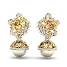 jhumka earrings blooming diamond jhumka earrings kuberbox