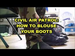 blouse your boots how to blouse your boots garters civil air patrol