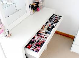 Acrylic Vanity Table Ikea Malm Dressing Table Makeup And Beauty Storage Ideas Makeup