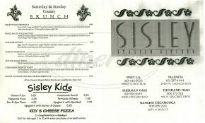 sisley italian kitchen menu valencia dineries