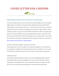 create resume cover letter 28 images how to make a