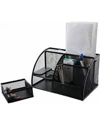 Small Desk Organizer by Great Deal On Stationary Station Mesh Desk Organizer 6 Slots With