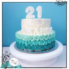 Cake Decorating Singapore Ombre Rosettes Buttercream Cake Singapore White Spatula