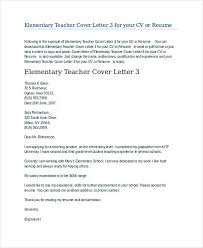 elementary teacher cover letter template cover letter sample