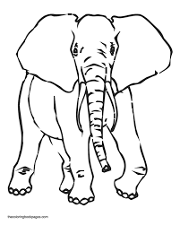 elephant coloring pages print kids coloring