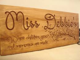 custom wooden sign for daycare provders by benchmarksignsgifts