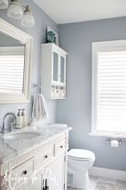 Gray Purple Bathroom - home tour behr turquoise and bath
