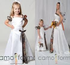 a line white camo flower girls u0027 wedding dresses spaghetti strap