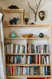 Homemade Bookshelves by A Breezy House In L A With An Epic Garden House Homemade
