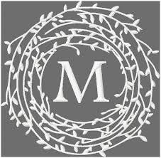 twig wreath twig wreath monogram frame border machine embroidery design comes