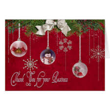 customer thank you christmas greeting cards zazzle