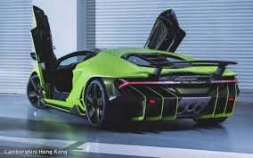 lamborghini centenario lamborghini centenario lands in hong kong only green model made