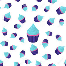 wedding backdrop design vector seamless pattern cupcake blue pink and purple vector illustration