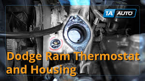 2012 dodge ram 1500 parts how to install replace thermostat and housing 2008 dodge ram 5 7 l