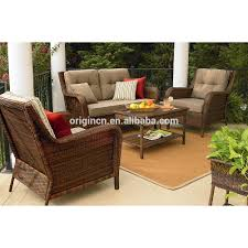 Wicker Loveseat Patio Furniture - european style 4pc wicker balcony sofa set with loveseat outdoor
