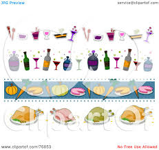 thanksgiving border clip art royalty free rf clipart illustration of a digital collage of