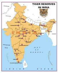India On World Map by List Of Tiger Reserves In India Indian Tiger Sanctuaries And Game