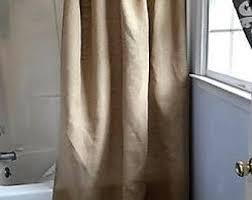 Burlap Shower Curtains Burlap Shower Curtain Etsy
