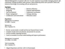 Sample Resume For Accounting 100 Management Accountant Resume Sample Family Psychology
