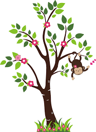 monkey in a tree clipart clipartxtras