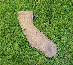california wall wooden california map california outline