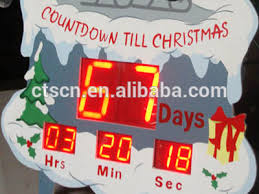 santa claus framed led high brightness countdown clock