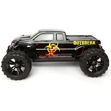 force rc rtr 1 10 outbreak 4wd monster truck rc car action