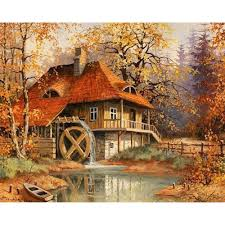 2017 diy diamond painting home decor full embroidery autumn house