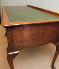 antique oak writing table kneehole desk london 10284