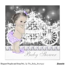 purple and grey baby shower invitations elegant purple and gray princess baby shower invitation