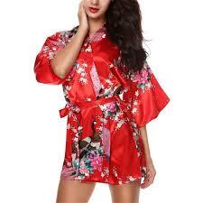 robe de chambre japonaise honofash kimono japonais court robe de chambre 1 2 manches
