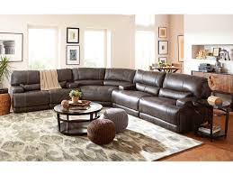 living room stampede 3 piece leather power sectional charcoal