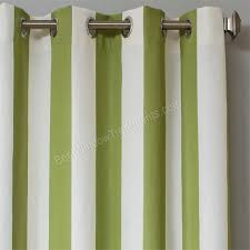 Green Striped Curtains Sunbrella Stripe Outdoor Curtain Panel Available In 7 Colors