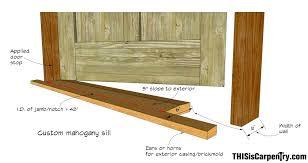 How To Replace Exterior Door Replacing Exterior Door Jamb And Threshold Shop Door Sill 1 1
