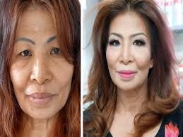 hairsyles that minimize the nose the power of makeup and hairstyle 60 year old youtube
