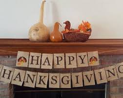 happy thanksgiving banner etsy