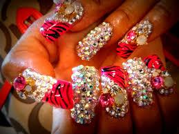 bling bling diamond rhinestone nails youtube