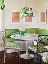dining nook chic kitchen breakfast nook with metal table with oval shape glass