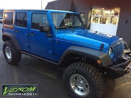 rubicon jeep blue 2015 jeep rubicon hydro blue venom motorsports grand rapids mi