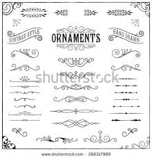 vintage ornaments collection vintage stock vector