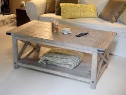 Rustic Coffee Tables And End Tables Coffee Table Painted Antique White And Distressed Wood Coffee