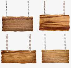 chains hanging wooden signs picture shackle board indicator png