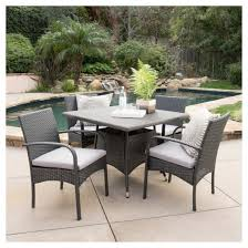 Wicker Patio Dining Chairs with Patterson 5pc Wicker Patio Dining Set Gray Christopher Knight